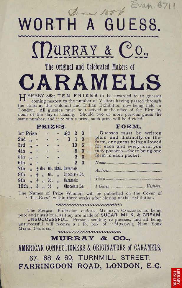 Advert for Murray & Co's caramels